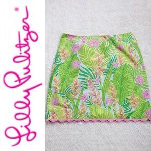 Lilly Pulitzer Tropical Print Mini Skirt